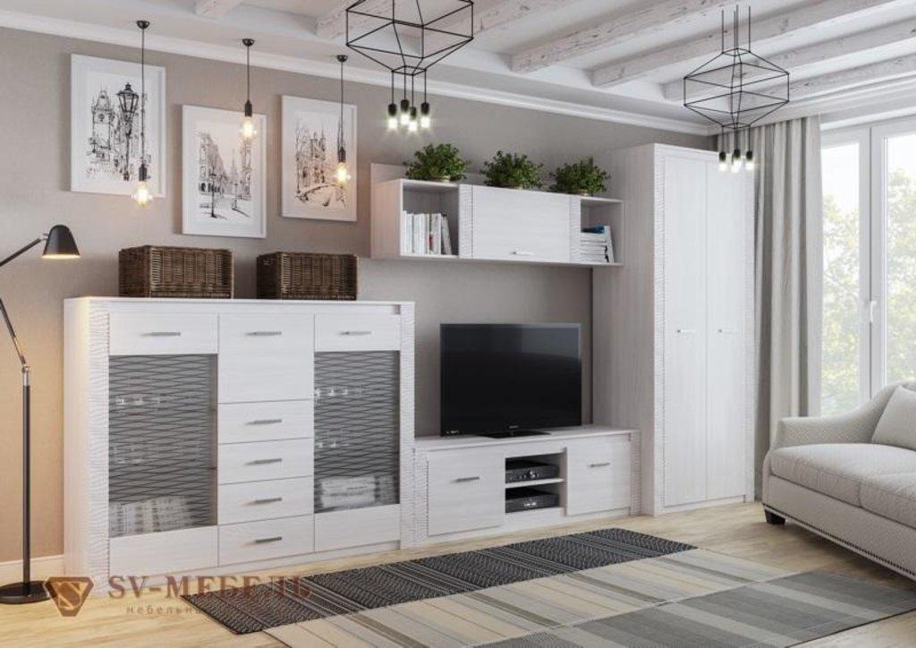 Мебель для гостиной Гамма-20: Комод-витрина Гамма-20 в Диван Плюс