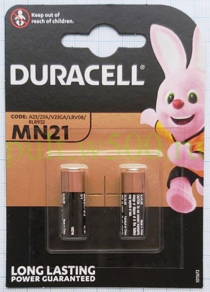 A, 23, 27, Мини-Мизинчиковая: Батарея A23, 23AE, E23A, 8LR932, MN21  Duracell (2BL) в A-Центр Пульты ДУ