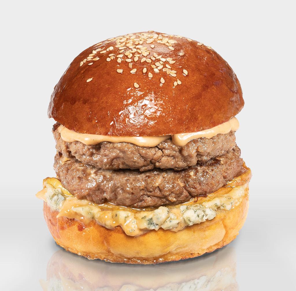 """Бургеры с двойной котлетой из говядины: Бургер """"XL С Грушей и Дор Блю"""" в The Угли"""