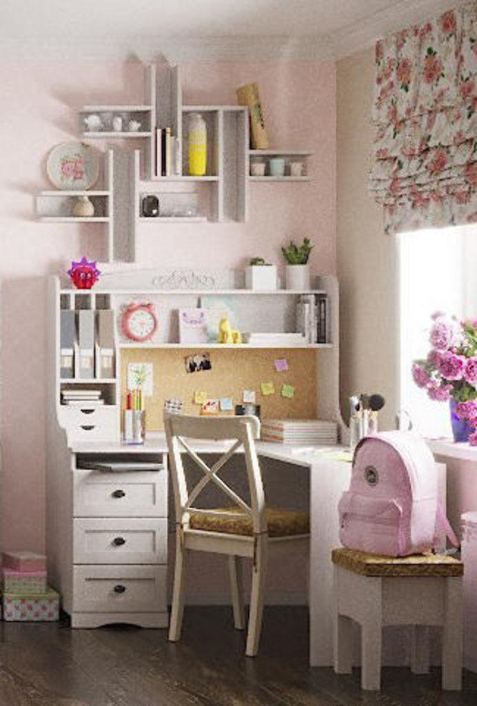 Детские шкафы и стеллажи: Стеллаж - надстройка ADELE 85 в Стильная мебель