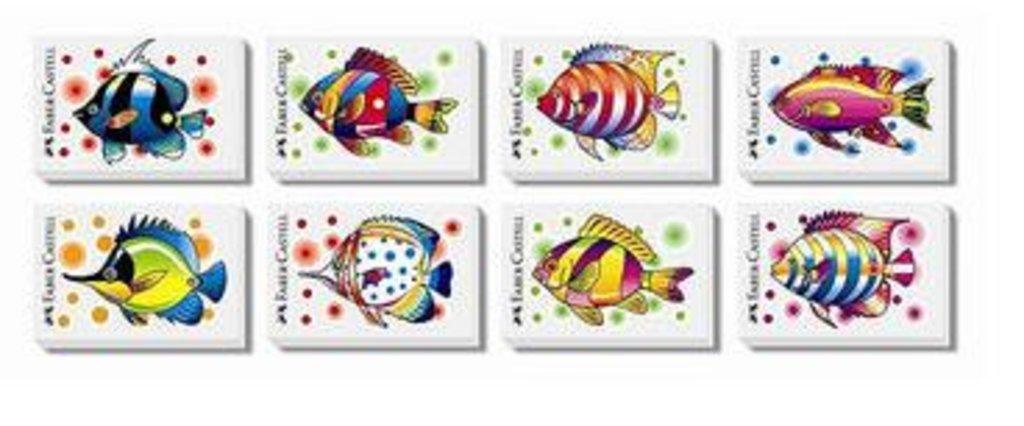 "Ластики, точилки: Ластик ""Faber-Castell"" Рыбки 1шт в Шедевр, художественный салон"