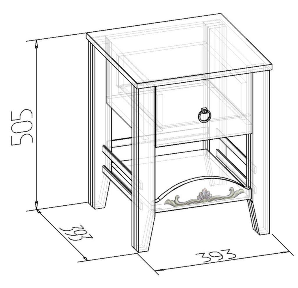 Прикроватные тумбочки: Тумба прикроватная Марсель 41 в Стильная мебель