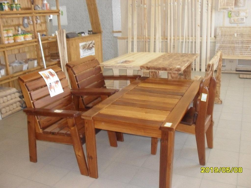 Мебель для саун и бань: Стол лакированный (термо-доска) в Погонаж