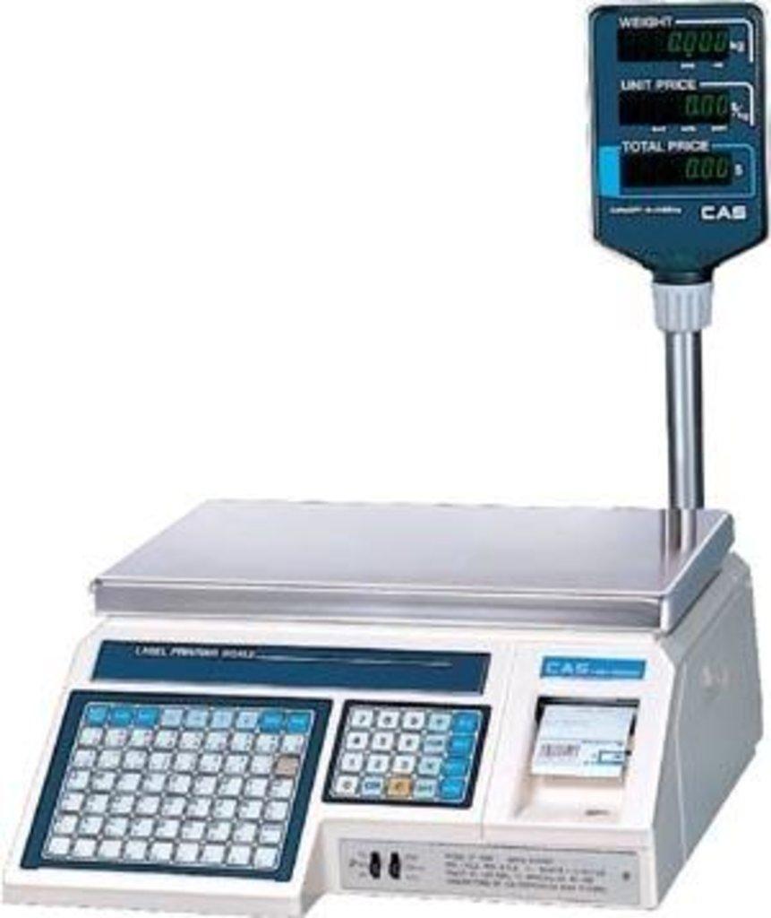 Весы с печатью этикеток: CAS весы с печатью этикеток в Рост-Касс