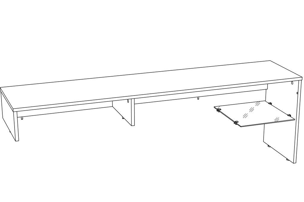 Тумбы и стойки под телевизор и аппаратуру: Надстройка для тумбы ТВА LIVORNO НМ 011.34-02 в Стильная мебель