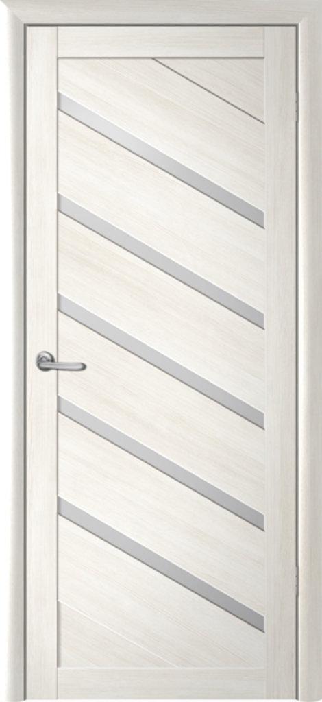 Двери Альберо: Сингапур -5 серый кедр черное стекло в Салон дверей Доминго Ноябрьск