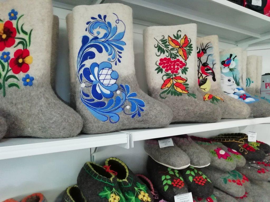 Унты, валенки, сапоги, чуни женские: Валенки жен.комбинированные с рисунком в Сельский магазин