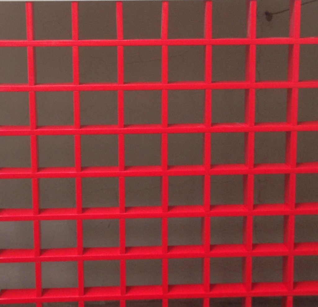 Потолки грильято: Потолок Грильято 50x50 h=40 красный (Cesal) в Мир Потолков