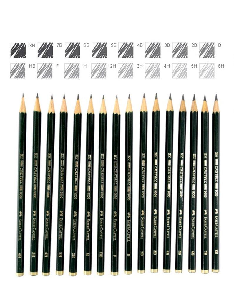 """Чернографитные карандаши: Карандаш чернографитный """"Faber-Castel-9000"""" 5B для письма,рисован.,эскизов, шестигранный 1шт в Шедевр, художественный салон"""
