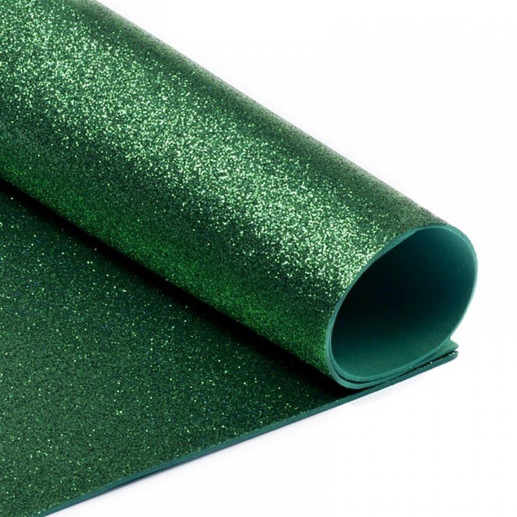Фоамиран: Фоамиран глиттерный 2мм 20*30см зелёный, 1 лист в Шедевр, художественный салон