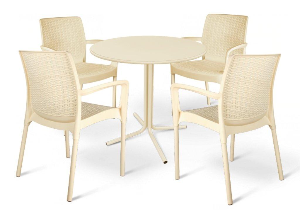 Комплекты мебели для летних кафе и ресторанов.: Обеденная группа SHT-DS23 (бежевая). в АРТ-МЕБЕЛЬ НН