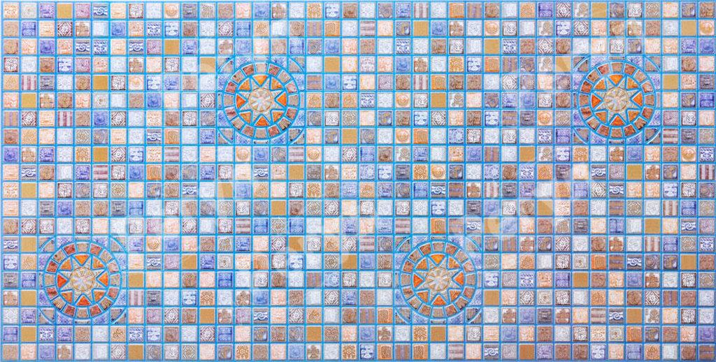Панели ПВХ: Мозаика Медальон синий в Мир Потолков