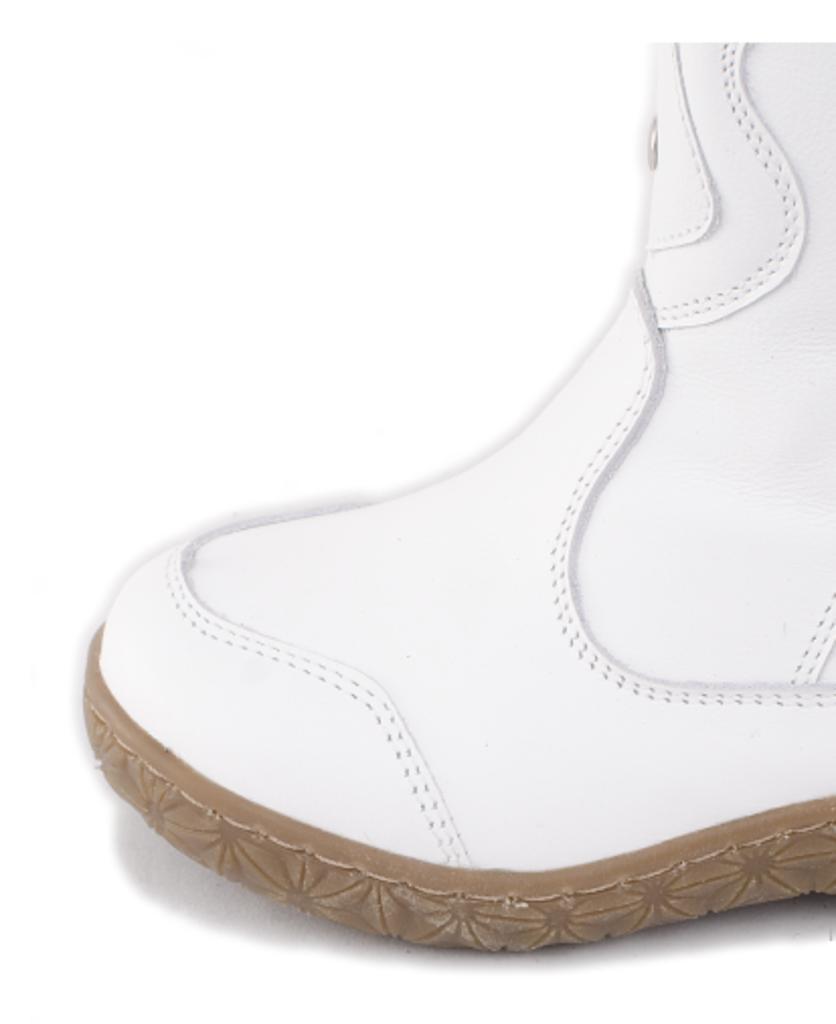 Обувь подростковая и детская: Сапоги детские. Натуральная кожа. Белые. Молния. в Сельский магазин