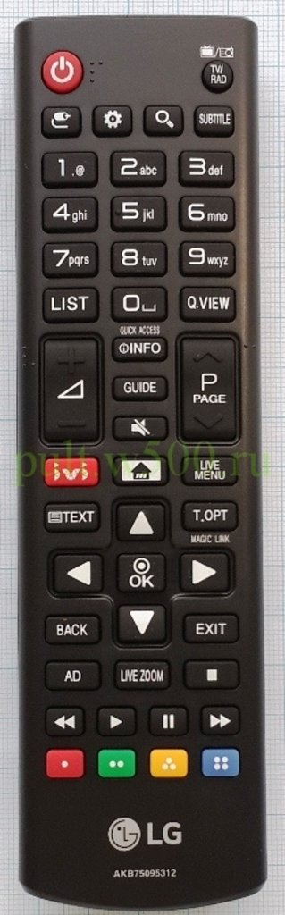 LG: Пульт LG AKB75095312, AKB75375611 мал. кл. ivi ( LCD SMART ) оригинал в A-Центр Пульты ДУ