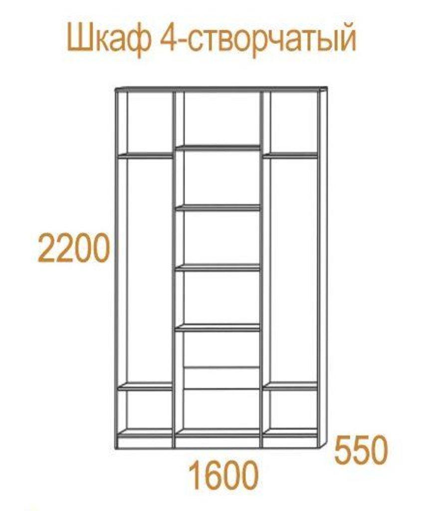 Шкафы для спальни: Шкаф 4-х створчатый Николь (1600) в Стильная мебель