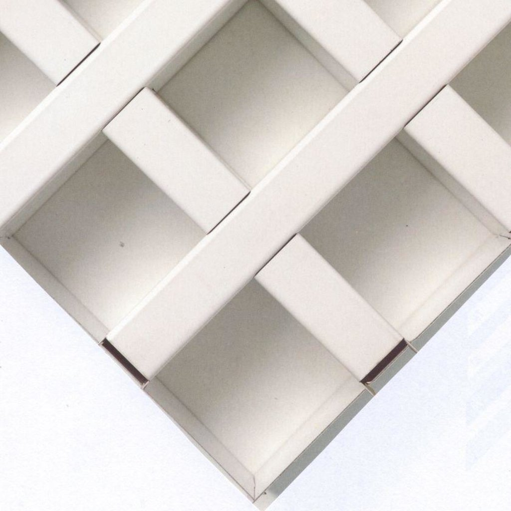 Потолки Армстронг (минеральное волокно): Потолочная плита Cellio (Целио) C9  200x200x37  RAL 9006 (assembled) в Мир Потолков