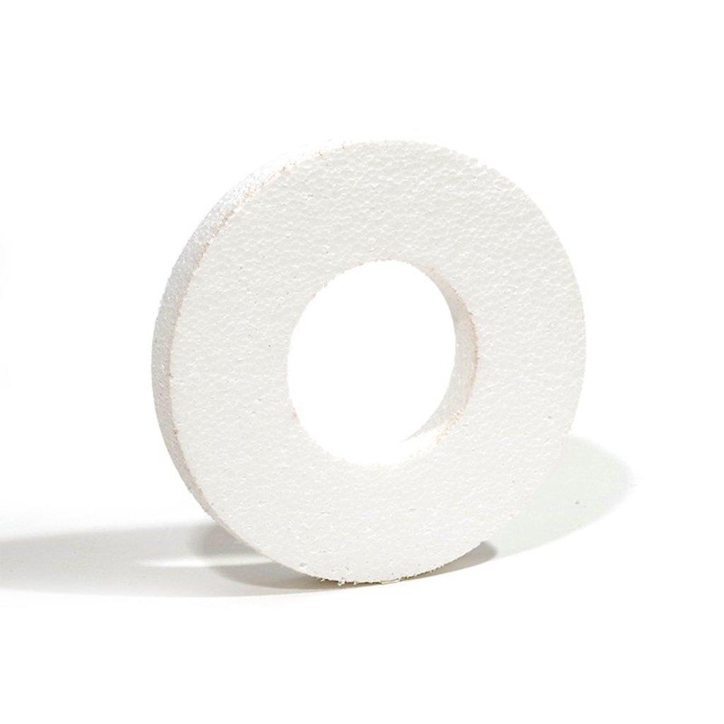 Пенопласт: Венок 15см толщина 2см неокрашенный пенопласт 1шт в Шедевр, художественный салон