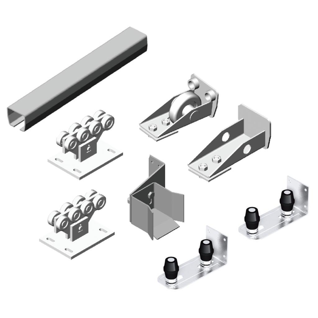 Комплектующие для откатных (сдвижных) ворот: Комплектующие для откатных ворот весом полотна ворот до 1200кг в АБ ГРУПП
