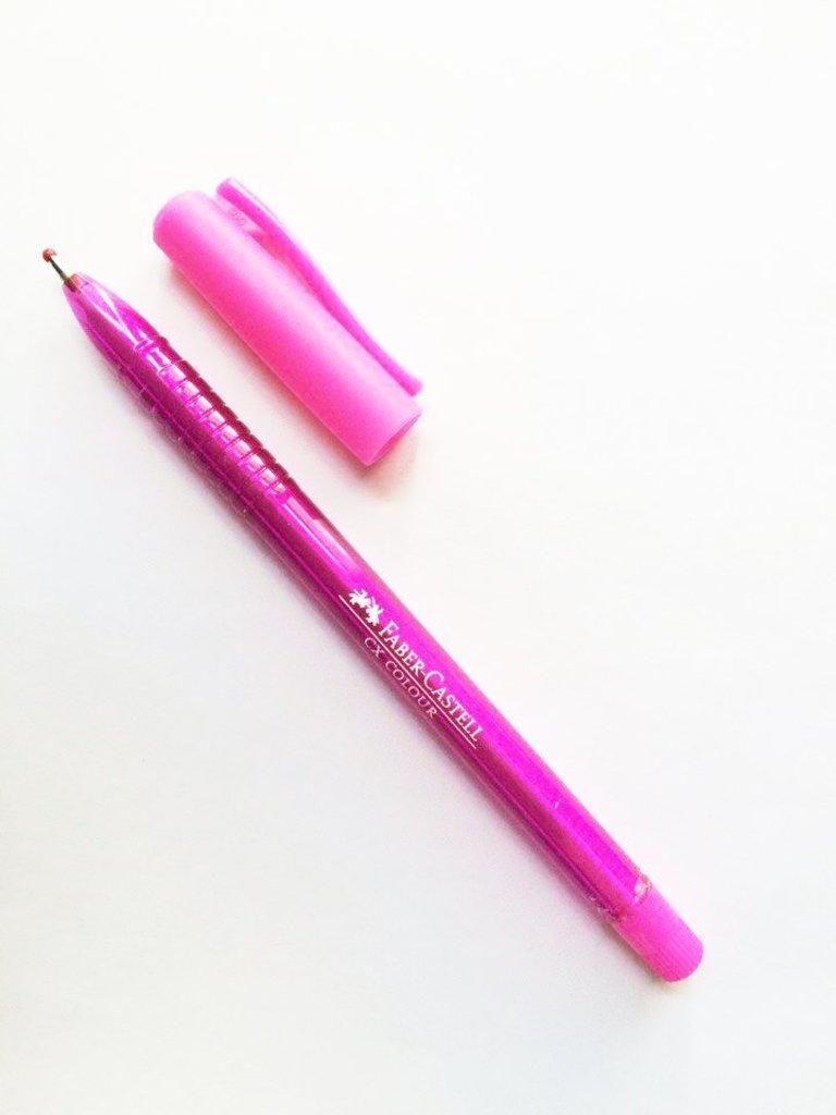Ручки: Роллер СХ5 , розовый , 1.0 мм Faber-Castell в Шедевр, художественный салон