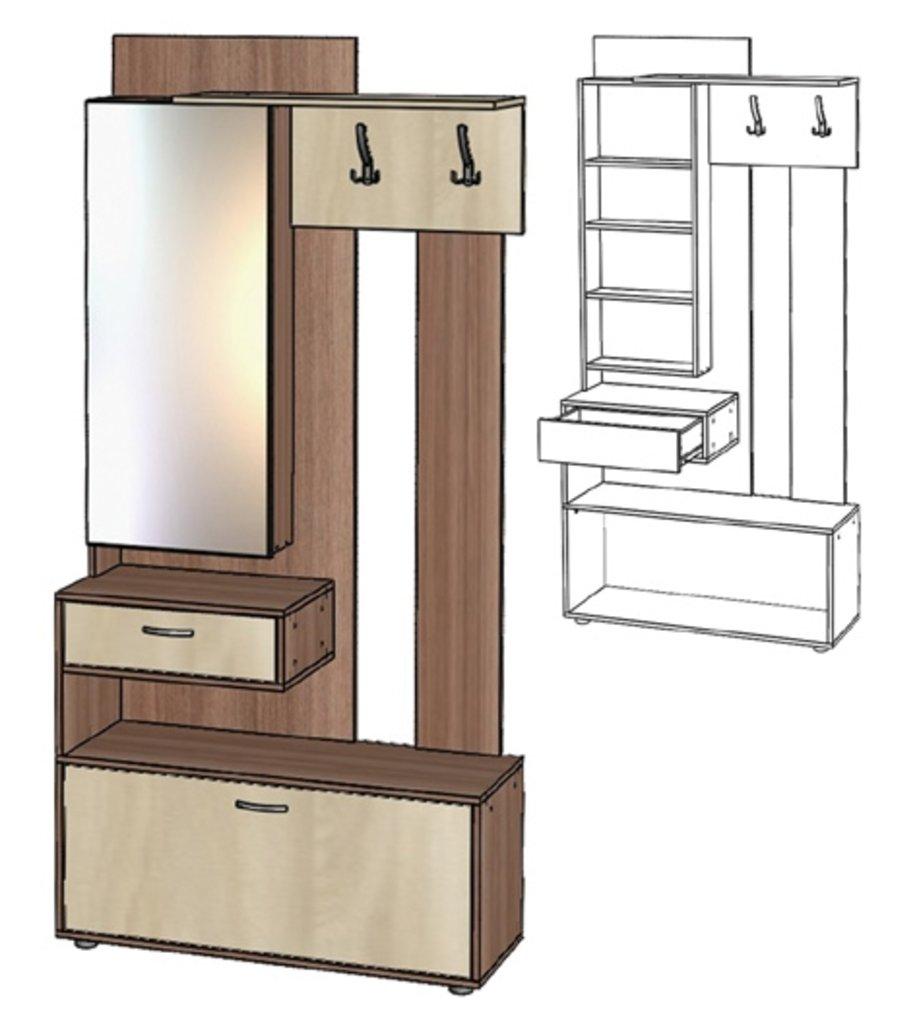Мебель для прихожих, общее: Секция с зеркалом Инфинити в Стильная мебель