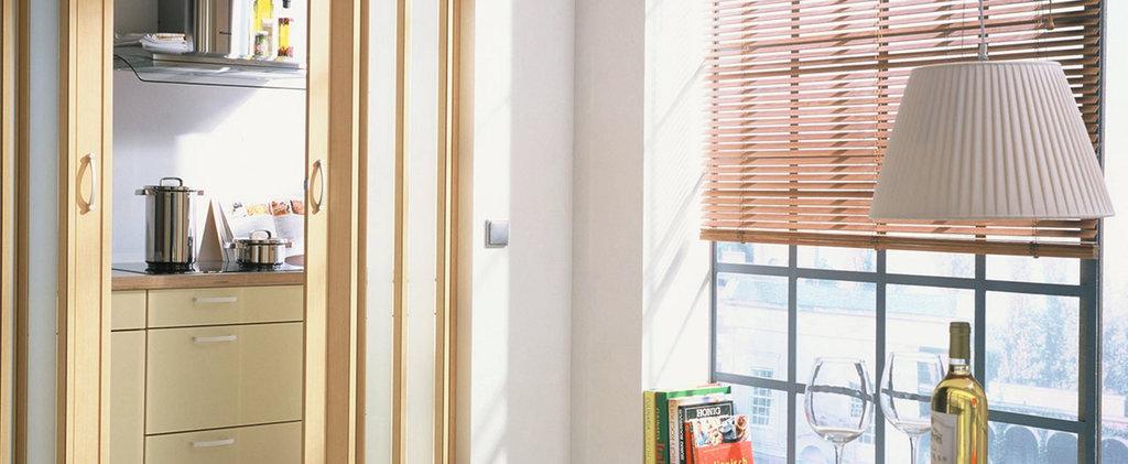 Горизонтальные жалюзи: Горизонтальные жалюзи из дерева и бамбука 25 мм в Салон штор, Виссон