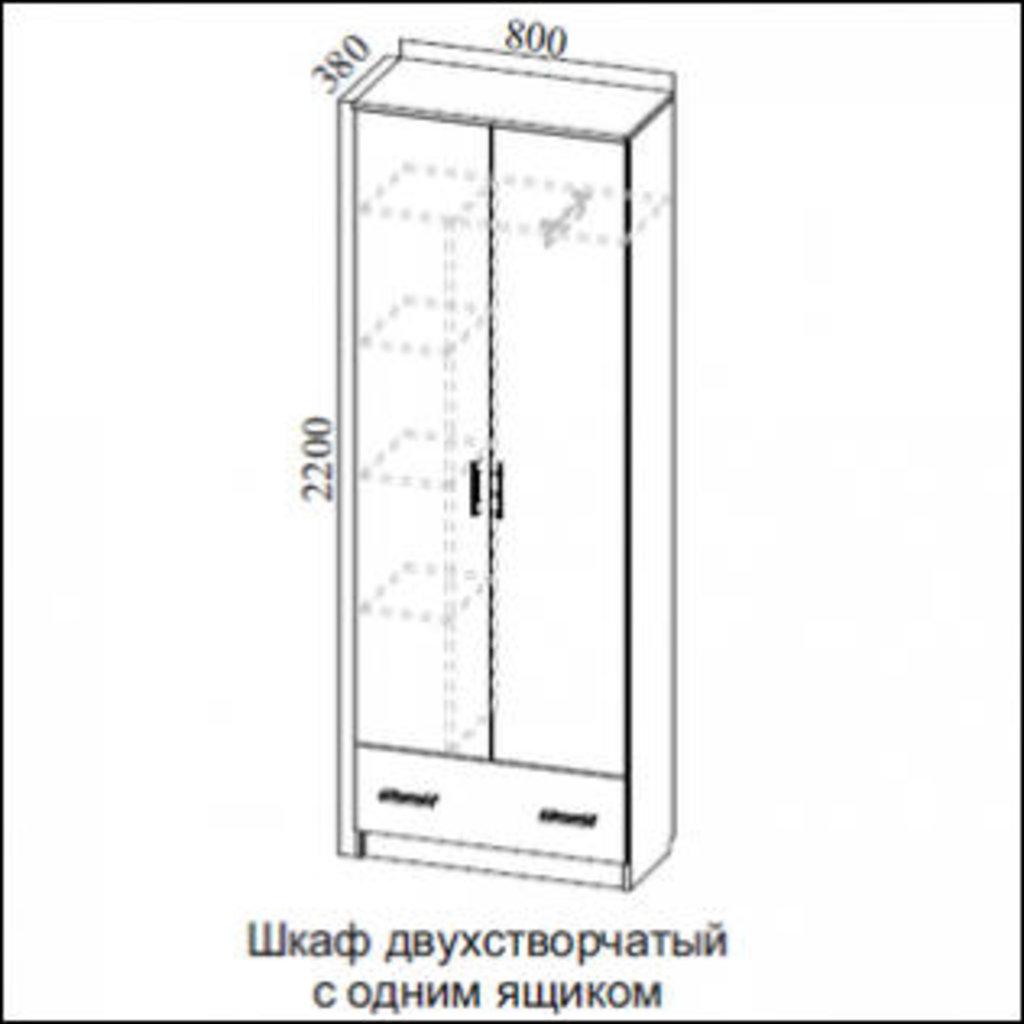 Мебель для прихожей Консул 2: Шкаф двухстворчатый с одним ящиком Консул 2 в Диван Плюс