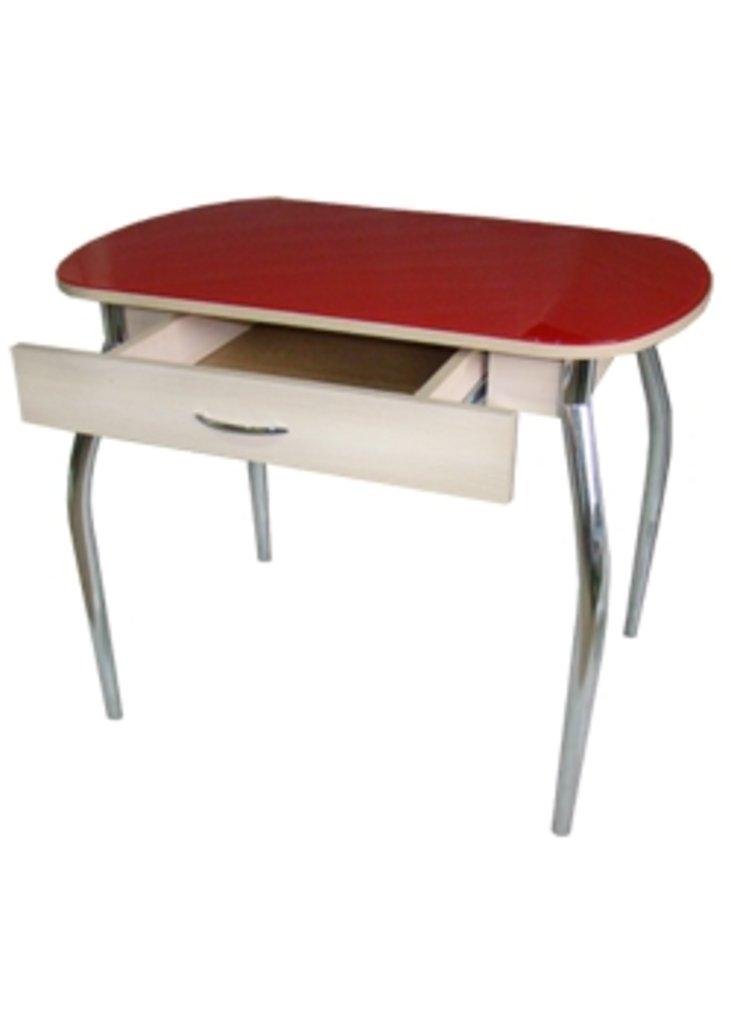 Столы кухонные.: Стол ПГ-10 с ящиком (хром) в АРТ-МЕБЕЛЬ НН