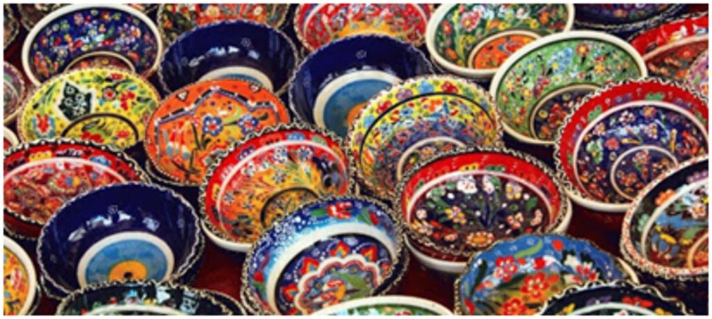 Мангалы. Казаны. Узбекская и турецкая посуда: Пиала Турецкая точечная в Сельский магазин
