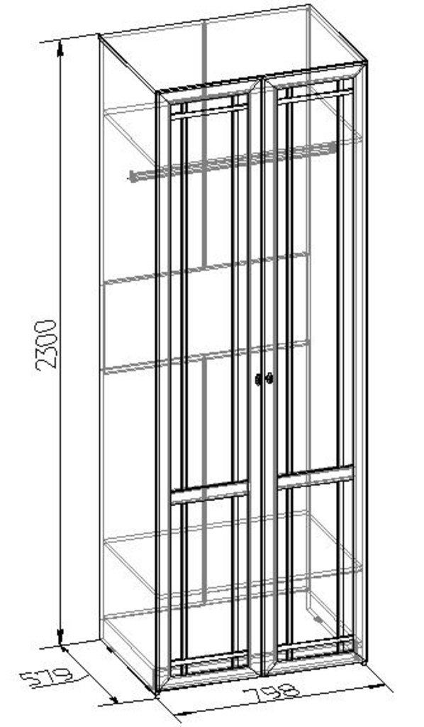 Шкафы для одежды и белья: Шкаф для одежды Sherlock 62 в Стильная мебель