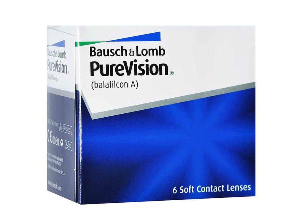 Контактные линзы: Контактные линзы Pure Vision (6шт / 8.3) Bausch & Lomb в Лорнет