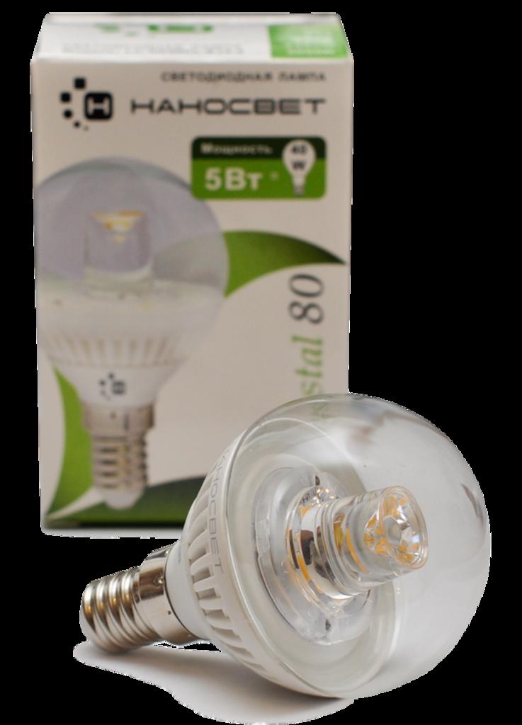 Светодиодные лампы: LC-5P45 CL-E14-3 Crystal 80 Лампа светодиодная Шар (LED) НАНОСВЕT в Электрика