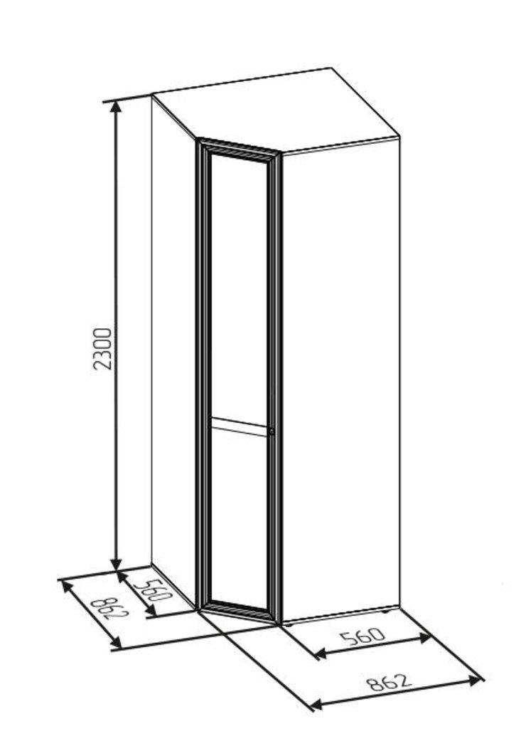 Шкафы для спальни: Шкаф угловой PAOLA 156 (Стандарт прав.) в Стильная мебель