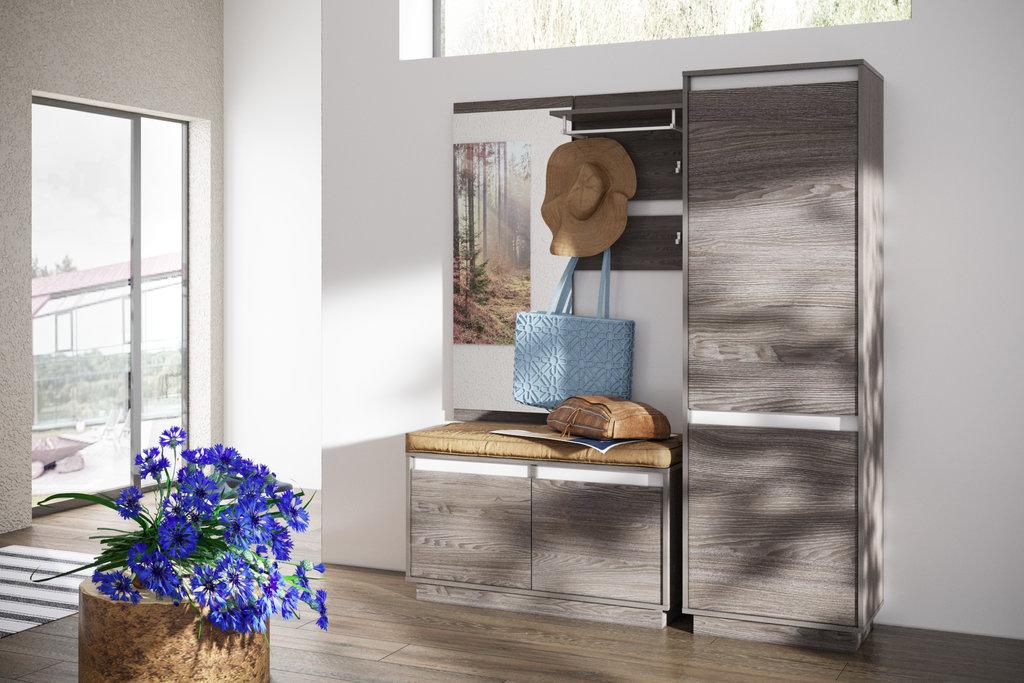 Мебель для прихожих, общее: Вешалка VIRGINIA НМ 013.33  Ясень анкор темный в Стильная мебель