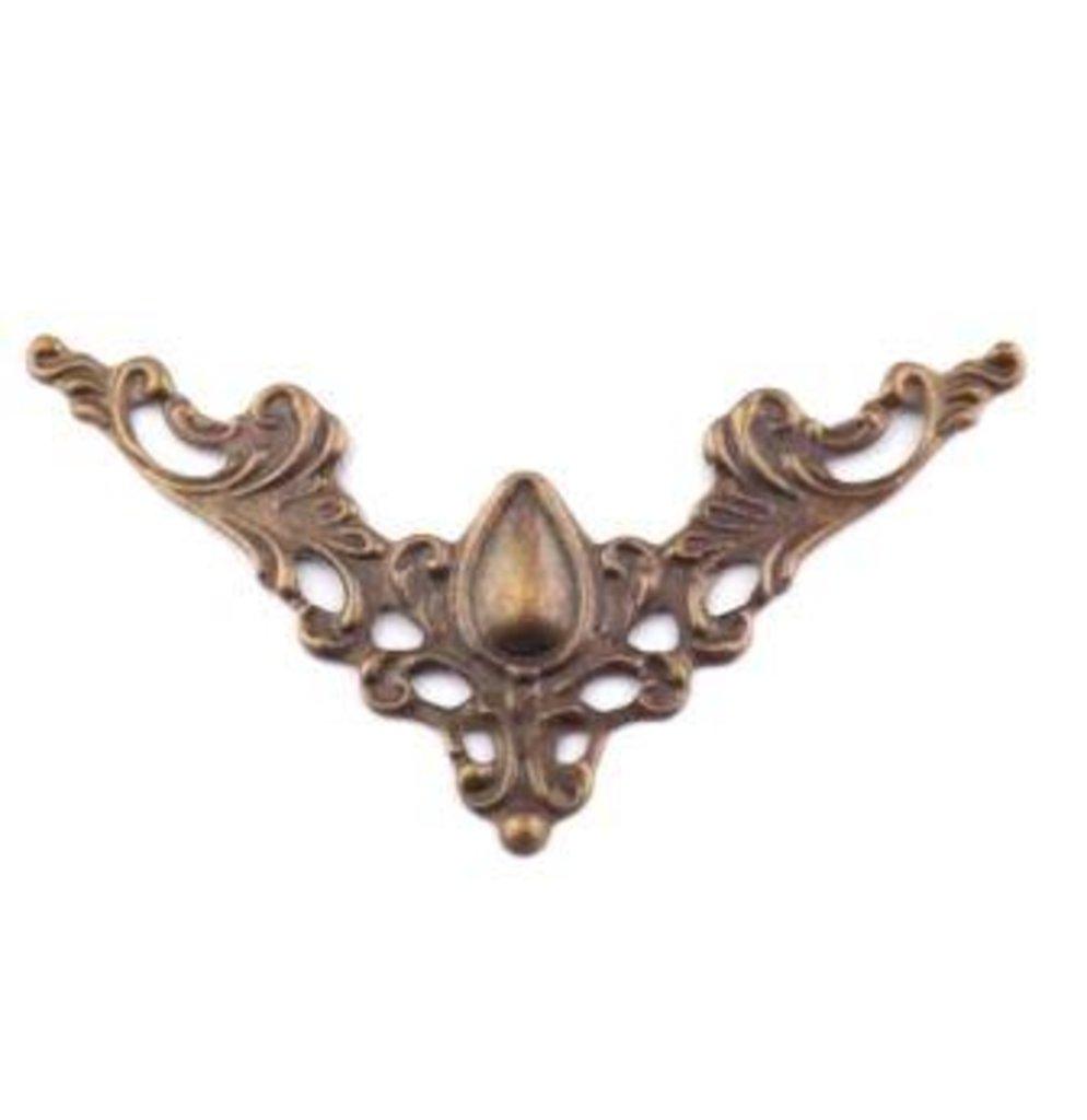 Шкатулки: Декор. накладка для шкатулок 40*40мм,бронза ШНМ3  1шт в Шедевр, художественный салон