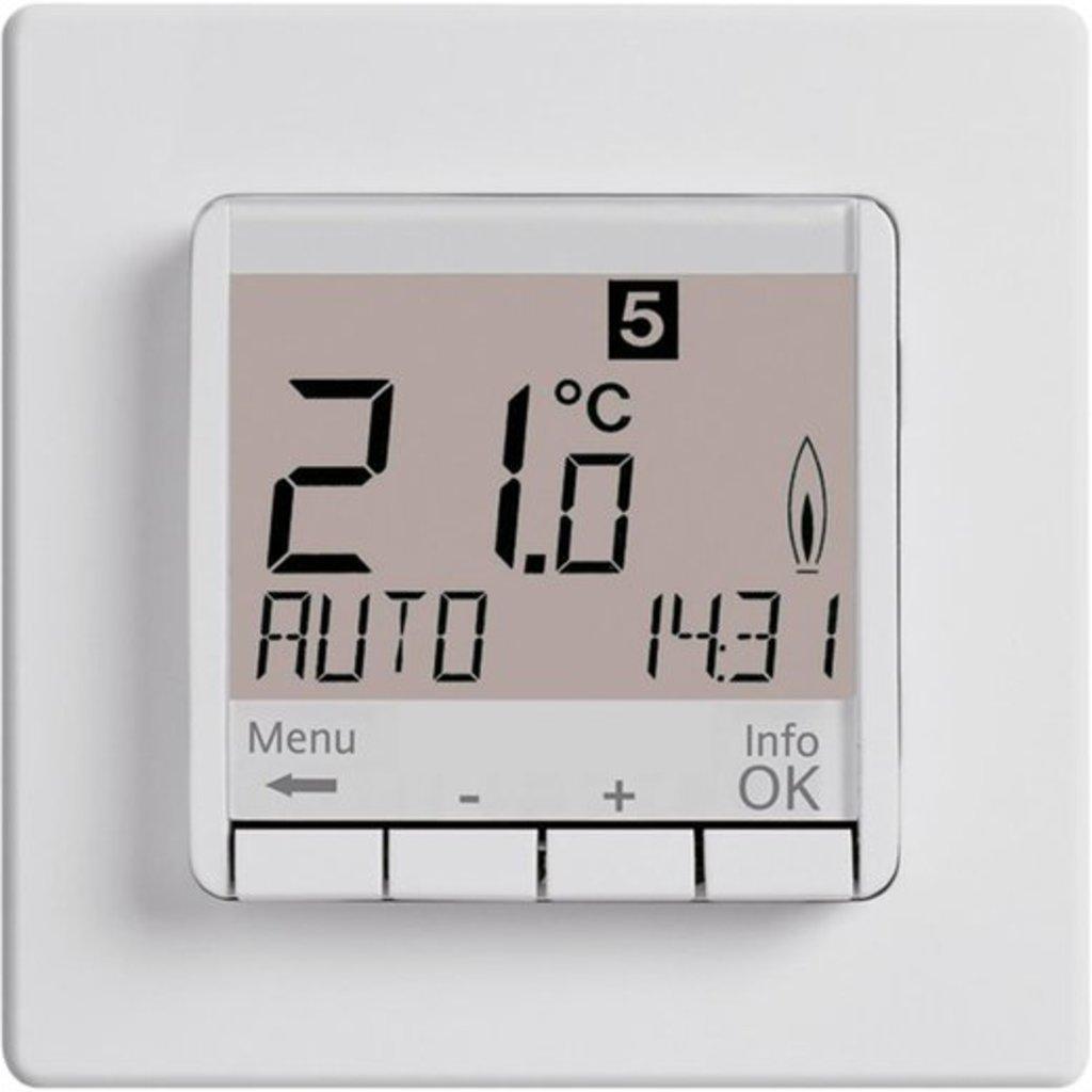"""Терморегуляторы и комплектующие: Терморегулятор """"EBERLE"""" (Германия) FIT 3F-white (16 А) в Теплолюкс-К, инженерная компания"""