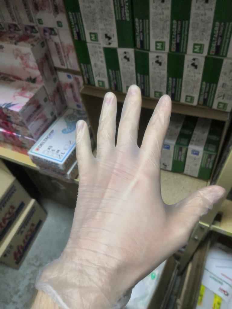 Перчатки виниловые\латексные, уп/50пар в Техномед, ООО