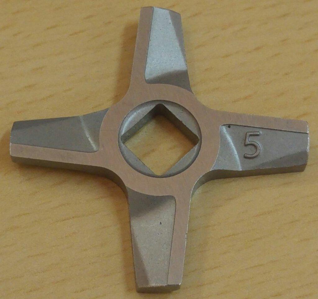 Запчасти для электромясорубок: Нож D=47, h=5.1, квадрат=9.2 двухсторонний для мясорубки Zelmer, Bosch №5, 861009, 756991 в АНС ПРОЕКТ, ООО, Сервисный центр