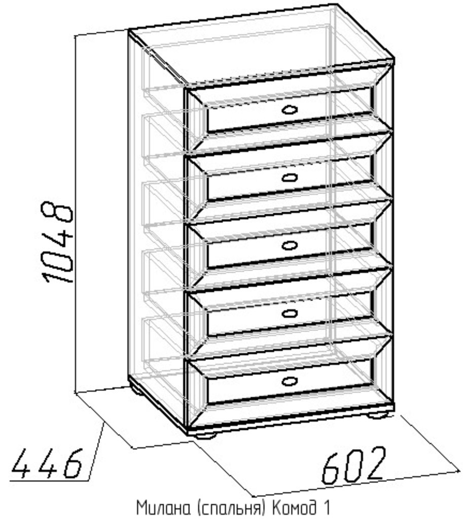 Комоды для дома: Комод Милана 1 в Стильная мебель