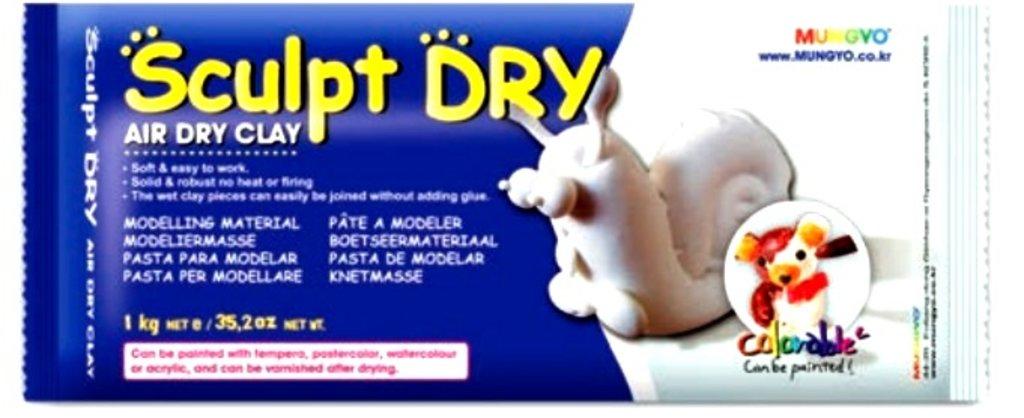 Керамическая масса: Глина для моделирования 1000гр белая Sculpt Dry MUNGYO в Шедевр, художественный салон