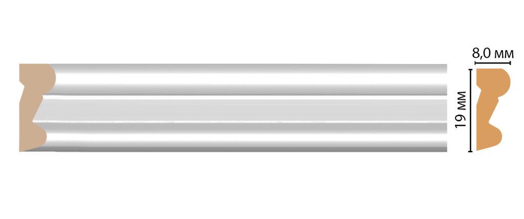 Молдинги: Цветной молдинг DECOMASTER D007-114 (19*8*2400) в Мир Потолков