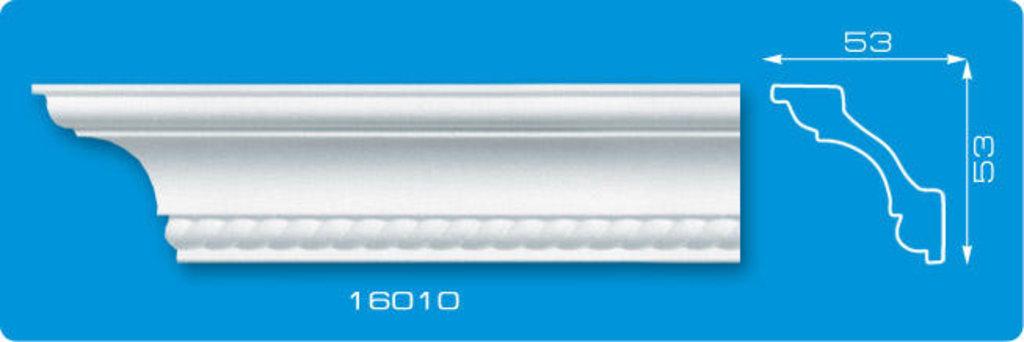 Плинтуса потолочные: Плинтус потолочный ФОРМАТ 16010 инжекционный длина 1,3м, средний в Мир Потолков