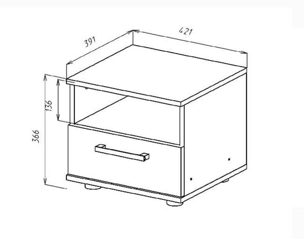 Прикроватные тумбочки: Тумба прикроватная Венеция в Стильная мебель