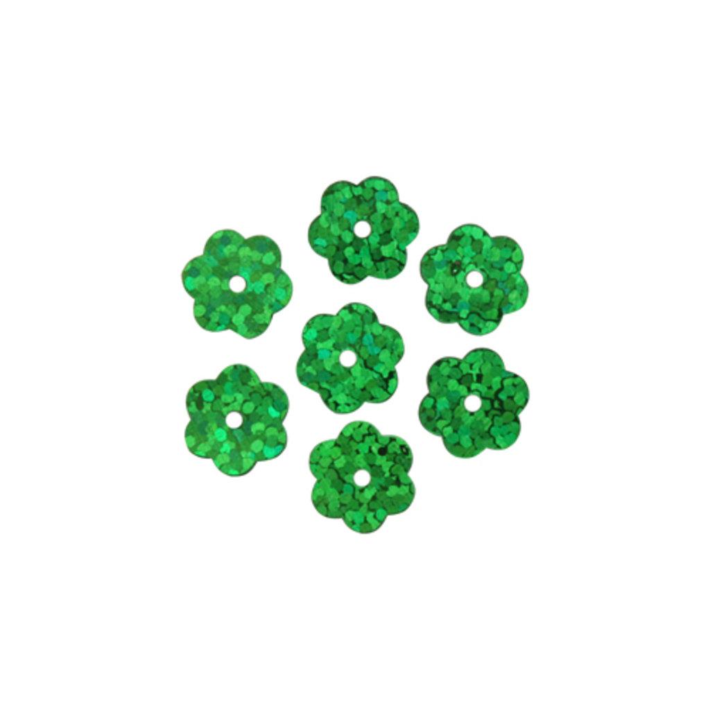 """Цветочки 10мм.: Пайетки""""Цветочки""""10мм.,упак/10гр.Астра(цвет:50104 голограмма) в Редиант-НК"""