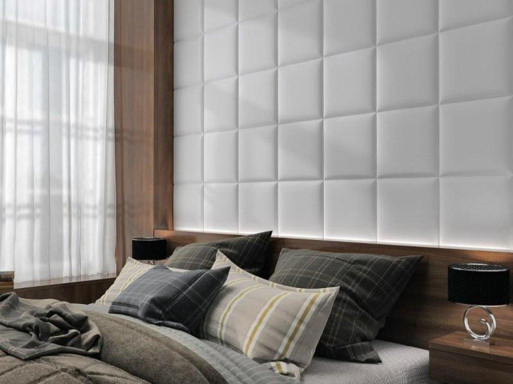 Кожаные стеновые панели: Кожаная 3D панель Shape в Мир Потолков