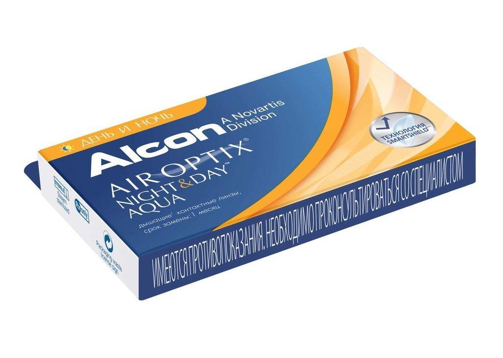 Контактные линзы: Контактные линзы AIR OPTIX Night & Day AQUA (3шт / 8.6) ALCON в Лорнет