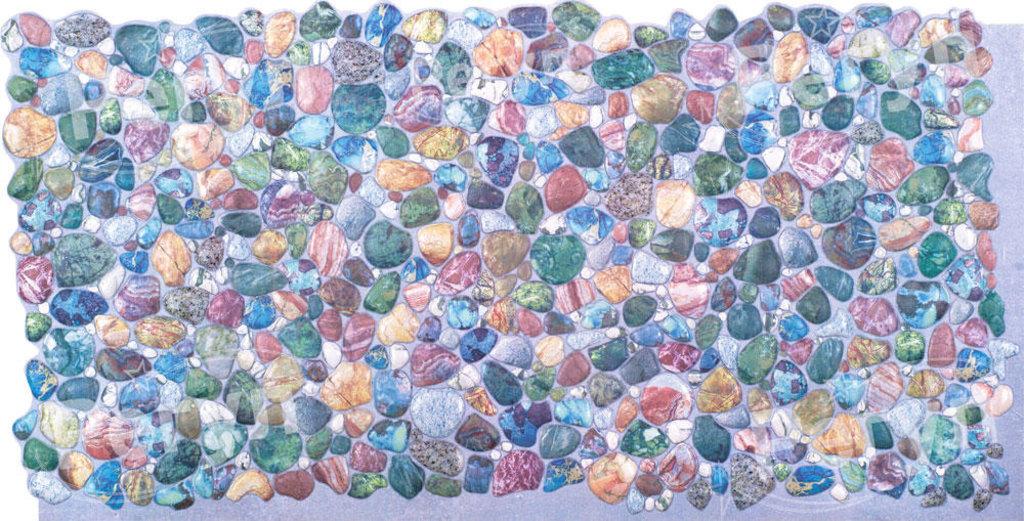 Панели ПВХ: Камень Галька зеленая в Мир Потолков