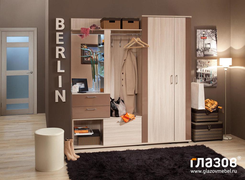 Мебель для прихожей BERLIN (Берлин). Композиция 1: Прихожая BERLIN (Берлин). Композиция 1 в Диван Плюс