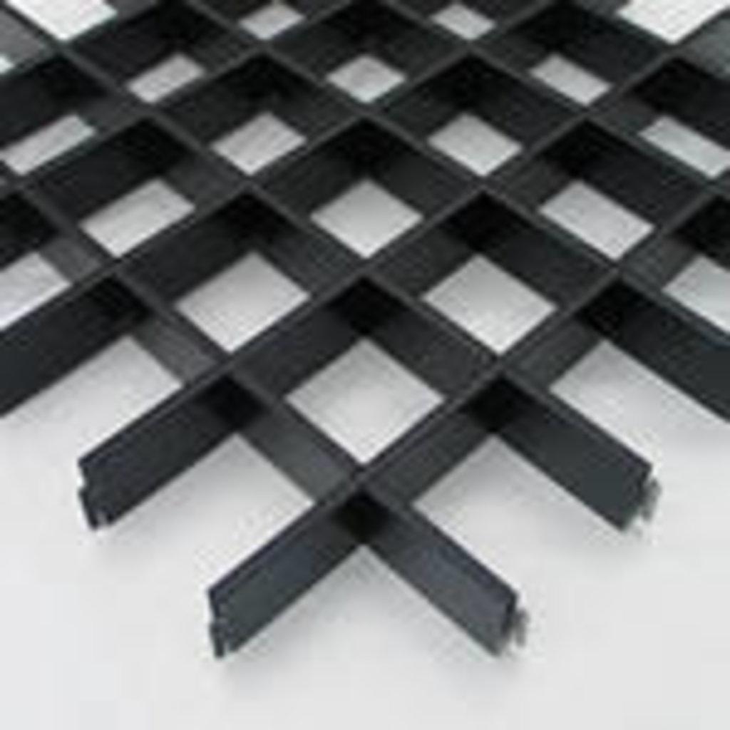 Потолки грильято: Потолок Грильято 200x200 h=40 черный (Cesal) в Мир Потолков