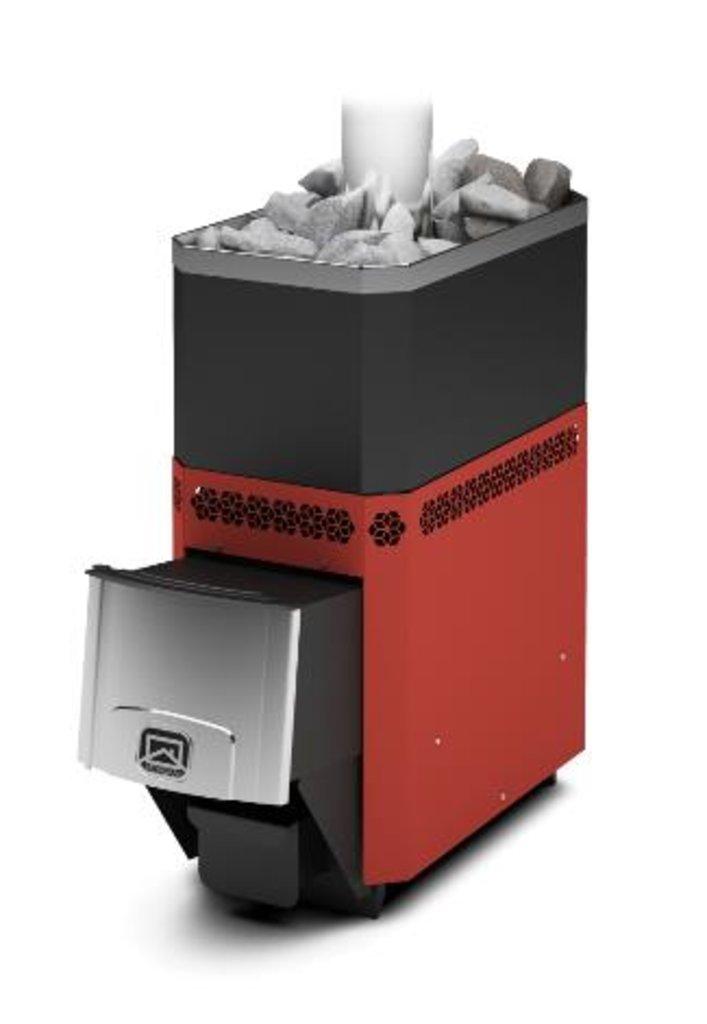Печи и дымоходы: Печь для бани   Теплодар РУСЬ-12 Л терракота. в Погонаж