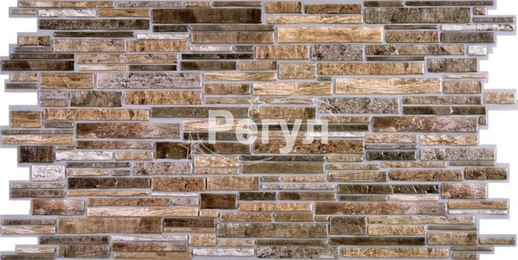 Панели ПВХ: Камень Пластушка коричневая в Мир Потолков